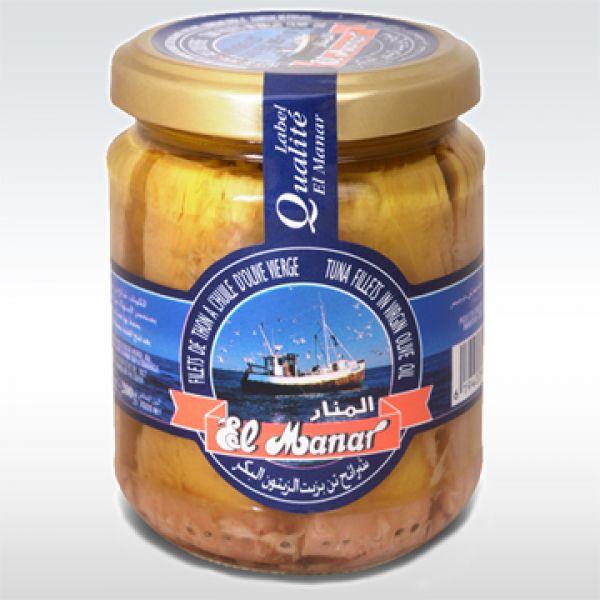 EL MANAR, Filets de Thon Huile d'Olive, bocal 200g