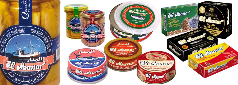 Importateur grossiste Thon El Manar, conserves boîte et bocal
