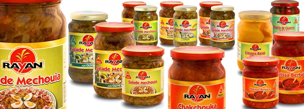 RAYAN, spécialités de Tunisie importées par MOULIN VILLE France