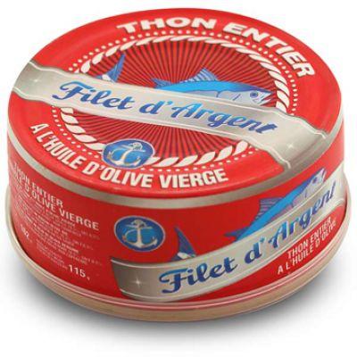 FILET D'ARGENT - Thon entier HO - 160g