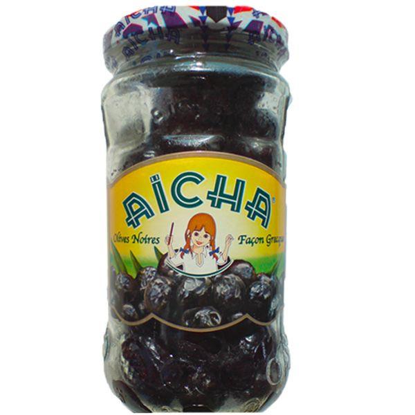 Olives Noires façon Grèce, 37cl - AICHA. Vente à prix grossiste