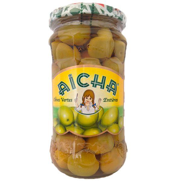 Olives Vertes Entières à la marocaine- Bocal 72cl, achat en gros chez votre grossiste AICHA