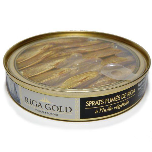 Sprats Fumés Huile Végétale, Bte 120g - RIGA GOLD