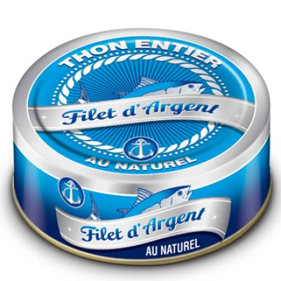 FILET D'ARGENT - Thon entier Naturel - 160 g