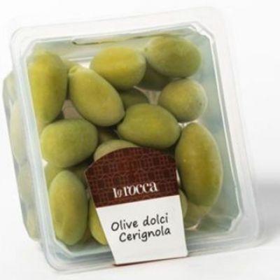 Olives Vertes de Cerignola, LA ROCCA. Barquette 175g. produit casher