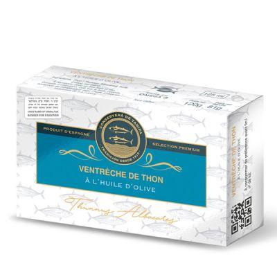 Ventreche de Thon Blanc à l'Huile d'Olive, CONSERVERA DE TARIFA. Bte 120 gr. Produit Casher sélection Pessah